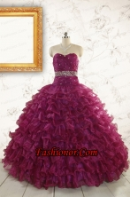 Brand New Style Quinceanera Gown with Beading and Ruffles FNAO049FOR