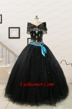 Cheap Black Quinceanera Dresses with Appliques 223.63 FNAO113FAFOR