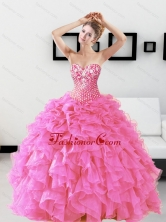 Classical Beading and Ruffles Sweetheart Quinceanera Dresses for 2015 QDDTA49002FOR