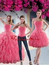 Custom Made Paillette Quince Dresses with Strapless for 2015 XFNAO744TZA1FOR