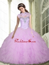 Discount Beading and Ruffles Sweetheart Quinceanera Dresses for 2015 SJQDDT5002FOR