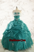 Discount Sweetheart Appliques Quinceanera Dresses for 2015 FNAO006AFOR