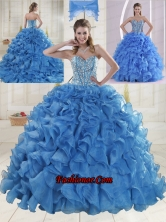 Elegant Brush Train Beading Quinceanera Dresses in Baby Blue XLFY091906B-3FOR