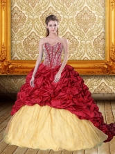 Exquisite Beading and Pick Ups Sweetheart Quinceanera Gown for 2015 QDDTA38002FOR