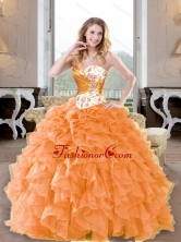Fashionable Beading and Ruffles Sweetheart Quinceanera Dresses for 2015 QDDTA61002FOR