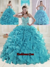 Fashionable Sweetheart 2015 Quinceanera Dresses in Aqua Blue XLFY091906B-1FOR
