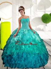 Fashionable Sweetheart Multi Color Sweet Sixteen Dresses with Appliques and Ruffles QDDTB3002FOR