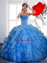 Free and Easy Ball Gown Quinceanera Dress with Ruffles and Appliques QDDTB9002FOR