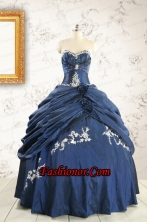 Gorgeous Sweetheart Ball Gown Quinceanera Dresses in Navy Blue FNAO693FOR