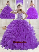 Hot Sale Sweetheart Beading 2015 Quinceanera Dresses in Sweet 16 XLFY091906B-8FOR