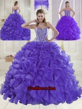 Hot Sale Sweetheart Brush Train Quinceanera Dresses for 2015 XLFY091906B-6FOR