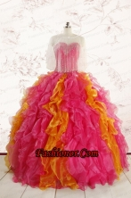 Inexpensive Beading Quinceanera Dresses in Multi color FNAO710AFOR