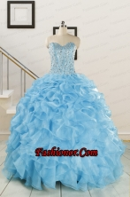 Luxurious Beading Apple Green Quinceanera Dresses for 2015 FNAO5844FOR