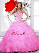 Luxurious Beading and Ruffles Sweetheart Quinceanera Gown for 2015 QDDTC29002-1FOR