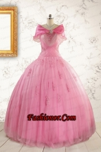 Most Popular Ball Gown Quinceanera Dresses with  Strapless FNAO601AFOR
