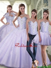 New Style 2015 Winter Ball Gown Sweetheart Lavender Quinceanera Dresses with Beading SJQDDT73001FOR