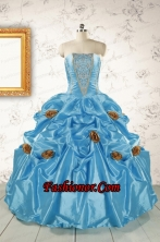 New Style Aqua Blue Quinceanera Dresses with Beading for 2015 FNAO5874FOR