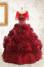 New Style Ball Gown Wine Red Quinceanera Dresses for 2015 FNAO697AFOR