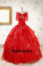 New Style Strapless Quinceanera Dresses with Appliques FNAO669AFOR