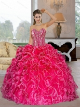 Perfect Sweetheart Ball Gown Quinceanera Dresses with Beading and Ruffles QDDTA34002FOR