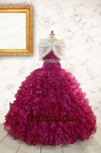 Prefect Quinceanera Dresses with Beading and Ruffles for 2015 FNAO049AFOR