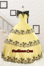 Pretty Ball Gown Appliques Quinceanera Dress for 2015 FNAO561AFOR