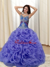 Remarkable Appliques and Rolling Flowers Multi Color Quinceanera Dresses for 2015 SJQDDT20002-2FOR