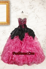 Trendy Multi Color Ball Gown Ruffled Quinceanera Dresses FNAOA16FOR