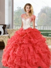 Wonderful Beading and Ruffles Sweetheart Quinceanera Dresses for  2015 QDDTA62002FOR