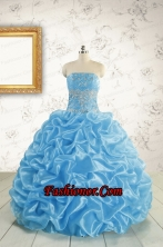 2015 Elegant Strapless Beading Quinceanera Dresses in Baby Blue FNAO5820FOR