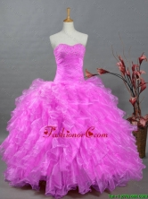 2015 Fall Perfect Sweetheart Quinceanera Dresses with Beading and Ruffles SWQD002-10FOR