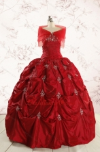 2015 Real Sample Sweetheart Appliques Quinceanera Dresses FNAO230BFOR