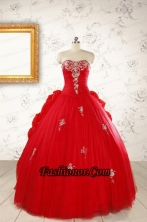 2015 Unique Sweetheart Quinceanera Dresses with Appliques FNAO614FOR