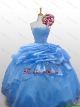 2016 Fall Elegant Strapless Quinceanera Dresses with Paillette and Ruffled Layers SWQD010-10FOR
