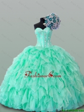 2016 Summer Perfect Sweetheart Quinceanera Dresses with Beading and Ruffles SWQD015-1FOR
