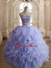 Best Selling Beaded and Ruffled Sweet 16 Dress in Lilac SWQD144-2FOR
