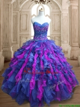 Best Selling Really Puffy Organza Quinceanera Dress with Appliques and Ruffles SWQD136-1FOR
