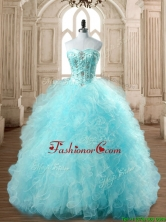 Best Selling Tulle Beading and Ruffles Quinceanera Dress in Baby Blue SWQD168-6FOR