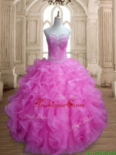 Cheap Lilac Big Puffy Quinceanera Dress with Beading and Ruffles SWQD155-3FOR