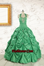 Discount Halter Top Sweet 16 Dresses with Appliques FNAO586FOR