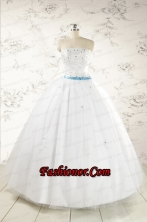 Discount White Quinceanera Dresses with Appliques FNAO146FOR