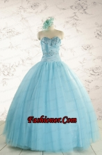 Elegant Beading 2015 Quinceanera Dress in Baby Blue FNAO735FOR