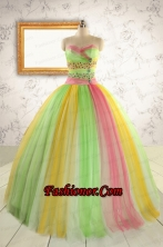 Elegant Sweet 16 Dresses in Multi Color for 2015  FNAO828FOR