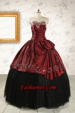 Formal Ball Gown Embroidery Quinceanera Dresses with Sweetheart FNAO506FOR