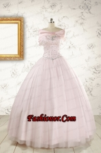 Light Pink  Beading Pretty Quinceanera Dresses for 2015 FNAO800AFOR