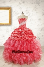 Luxurious Sweetheart Beading Quinceanera Dresses in Watermelon FNAOA43FOR