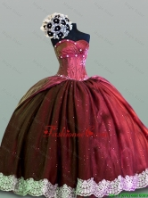 Luxurious Sweetheart Lace Quinceanera Gowns in Taffeta for 2015 Fall SWQD004-5FOR