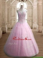 Most Popular A Line Baby Pink Sweet 16 Dress with Beading SWQD146-2FOR