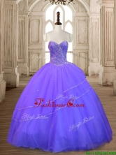 New Style Lavender Tulle Quinceanera Dress with Beading for Spring SWQD167-3FOR