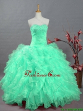 Perfect Sweetheart Quinceanera Dresses with Beading and Ruffles for 2015 Fall SWQD002-7FOR